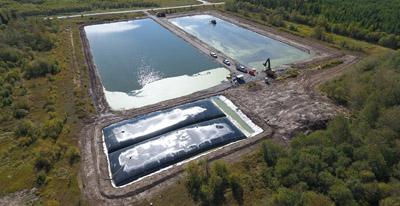 lagoons, geotube, septage, loading