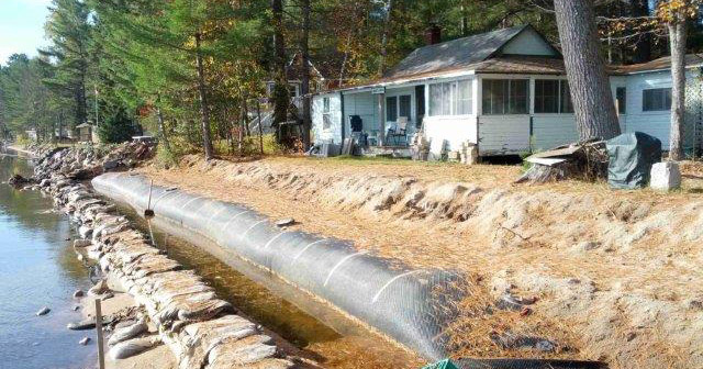 monolithic shoreline protection
