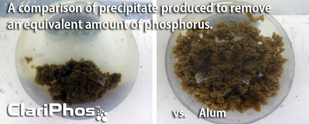 ClariPhos phosphorus removal produces up to 50% less sludge than conventional alternatives