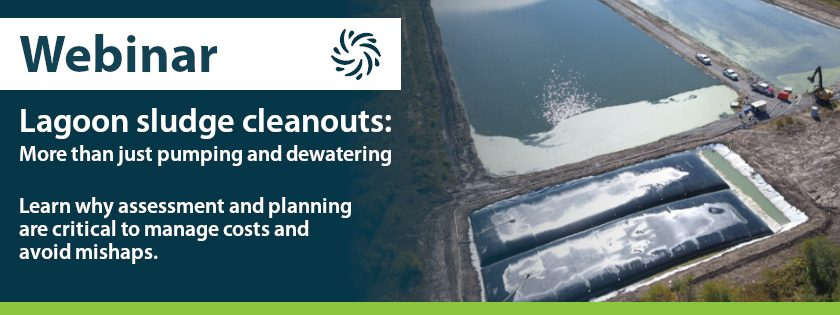 Webinar - Lagoon sludge cleanouts: More than just pumping and dewatering